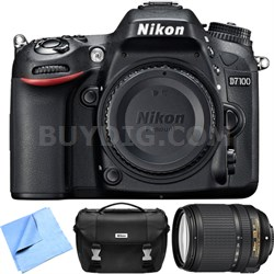 Refurbished D7100 24.1 MP DX-Format DSLR Camera w/ 18-140mm VR Lens Kit w/ Case