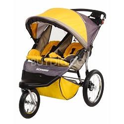 Free Wheeler ST Double Jogging Stroller (Gold Gray) - OPEN BOX