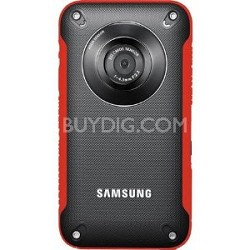 HMX-W300RN HD Pocket Camcorder (Red) - OPEN BOX