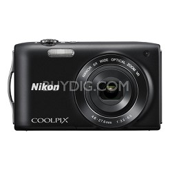 COOLPIX S3300 16MP 6x Opt Zoom 2.7 LCD - Black