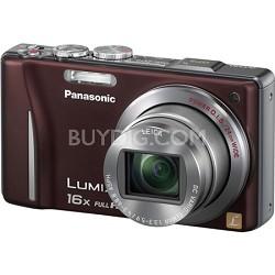 Lumix DMC-ZS10 14.1 MP Brown Camera w/16x Zoom & GPS