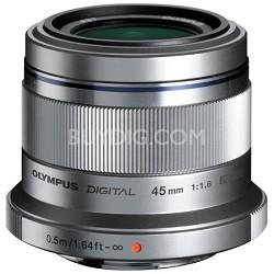 M. Zuiko Digital ED 45mm f/1.8 Lens for Micro Four Thirds Cameras (Silver)