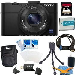 Cybershot DSC-RX100M II Cyber-shot 20.2MP Digital Camera + 32GB SDHC Kit (Black)