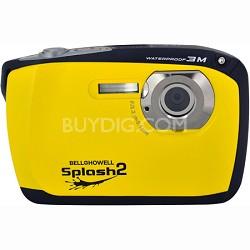 "Splash II 16MP Waterproof Digital Camera 2.5"" LCD HD Video (Yellow)(WP16-Y)"