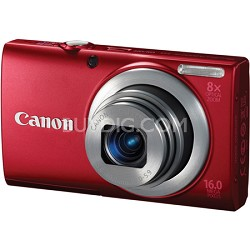 A4000 IS 16MP Red Digital Camera 8x Optical Zoom 3 inch LCD