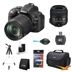 D5200 DX-Format Digital SLR with 18-105mm and 40mm Lens Kit