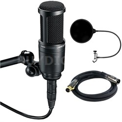 Side Address Cardioid Condenser Studio Microphone w/ Filter Bundle