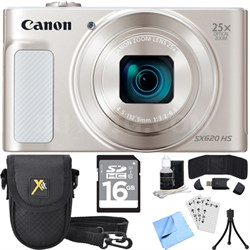 PowerShot SX620 HS 20.2MP Digital Camera Silver w/ Essential Accessory Bundle