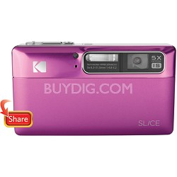 "Slice 14MP 3.5"" LCD Touchscreen Digital Camera (Magenta)"