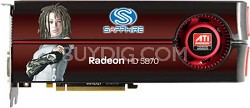 HD-5870  1GB DDR5 PCI-Express Graphics Card 100281SR
