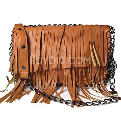 Frindge Chained Crossbody (Cognac) - 3052CGN