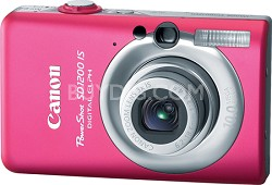 Powershot SD1200 IS 10MP Digital ELPH Camera (Pink) - REFURBISHED