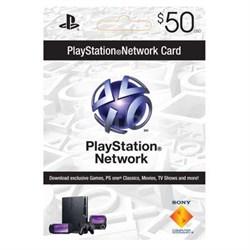 PSN 50 dollar live card