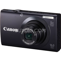 PowerShot A3400 IS 16MP Black Digital Camera 5x Optical Zoom 3 inch Touch Panel