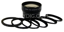 Professional 2.5X Telephoto Lens Converter - 62mm (with rings from 49mm to 72mm)