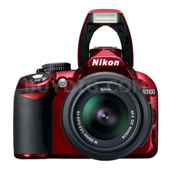 D3100 14.2MP / 1080P Red Digital SLR Camera with 18-55mm VR Lens - Refurbished