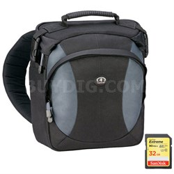 Velocity 8z Pro Photo Sling Pack (Black/Gray) Includes SanDisk 32GB Memory Card