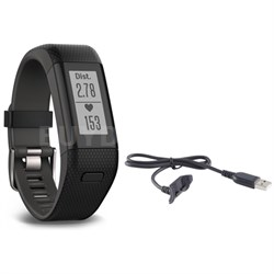 Vivosmart HR+ Activity Tracker Bundle, Regular Fit with Charging Cable (Black)