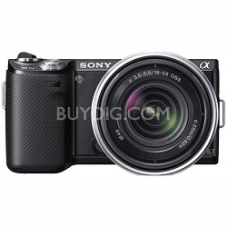NEX-5N 16 Megapixel Compact Interchangeable Lens Camera w/ 18-55mm Lens (Black)