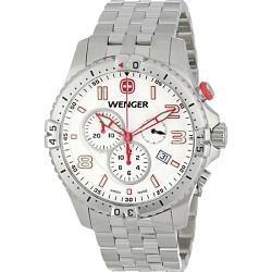 Men's Squadron Chrono Watch - White Dial/Stainless Steel Bracelet