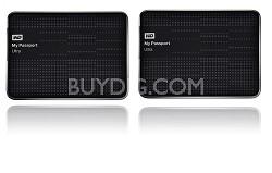 2-Pack My Passport Ultra 1 TB USB 3.0 Portable Hard Drive { Black}