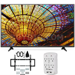55UF6450 - 55-Inch 4K Ultra HD Smart LED 120Hz TV Flat + Tilt Wall Mount Bundle