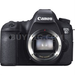 EOS 6D 20.2 MP CMOS Digital Full Frame SLR Camera (Body Only)