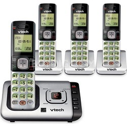 CS6429-4 DECT 6.0 Cordless Answering System With 4 Handsets and Caller ID