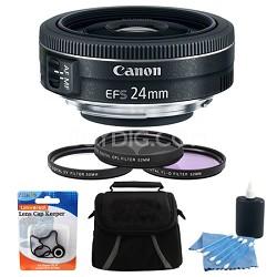 EF-S 24mm f/2.8 STM Camera Lens Bundle