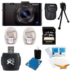 Cybershot DSC-RX100M II Cyber-shot 20.2MP Digital Camera + Accessories Kit Black