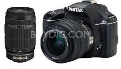 K-x Digital SLR Lens Kit w/ DA L 18-55mm and 50-200mm Lens (Black)