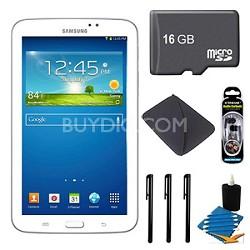 Samsung Galaxy Tab 3 (7-Inch, White) + 16GB Micro SDHC and More