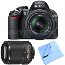 D3100 14.2MP/1080P Digital SLR Camera w/18-55mm VR + 55-200mm Lens - Refurbished