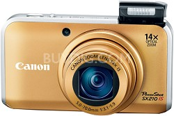 PowerShot SX210 IS 14MP 14x Zoom Digital Camera (Gold)