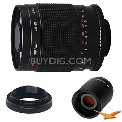 500M / 1000mm f/8.0 Mirror Lens for Olympus / Panasonic and 2x Multiplier