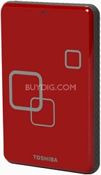 DS TS Canvio HD 750GB USB 2.0 Portable External Hard Drive - Rocket Red