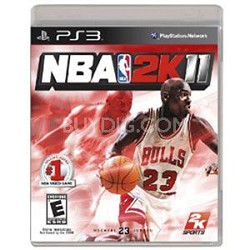 NBA 2K11 PS3  basketball game cartridge