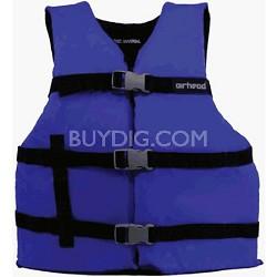 10002-15-A-BL   -  Blue Large Adult 3-Belt Universal Life Vest