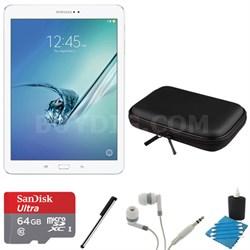 Galaxy Tab S2 9.7-inch Wi-Fi Tablet (White/32GB) 64GB MicroSD Card Bundle