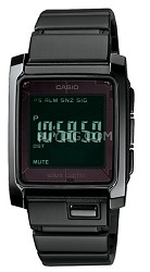 WV301DBA-1 - Black Wave Ceptor Atomic Solar Digital Metal Band Watch
