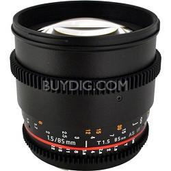 85mm T1.5 Aspherical Cine Lens for Nikon Mount