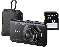Cyber-shot DSC-W650 16.1 MP Compact  w/ Case and 8GB Card - OPEN BOX
