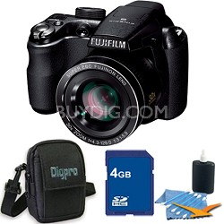"FinePix S4000 14 MP 3"" LCD Digital Camera w/ 30x Wide Angle Zoom 4GB Bundle"