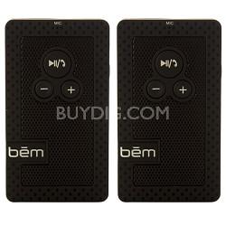 Hands Free Visor Speakerphone and Bluetooth Speaker 2 Pack
