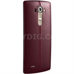 Genuine Leather Back Cover for the LG G4 (Red Leather) CPR-110.ACUSBR