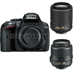 D5300 DX-Format DSLR Camera with 18-55mm & 55-200mm VR Lenses - Refurbished