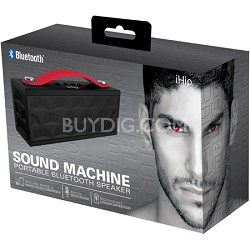 Sound Machine Portable Bluetooth Speaker with Built-in Mic (Black/Red)