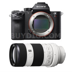a7R II Mirrorless Interchangeable Lens Camera Body with 70-200mm Lens Bundle