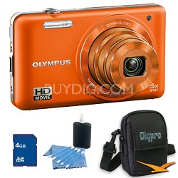 4 GB Kit VG-160 14MP 5x Opt Zoom Orange Digital Camera - Orange