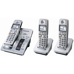 KX-TG6053S 5.8 GHz Cordless Telephone w/Digital Answering machine and 3 Handsets